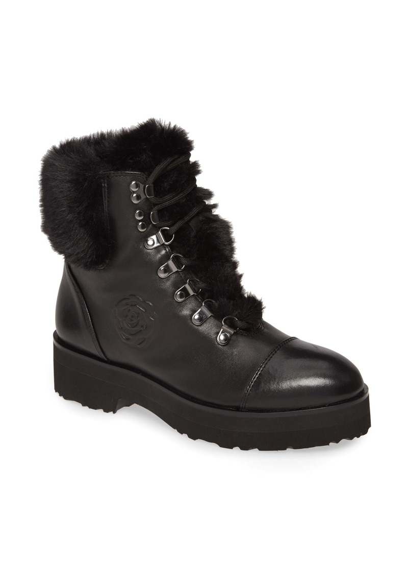 Taryn Rose Collection Veronica Faux Fur Trim Boot (Women)