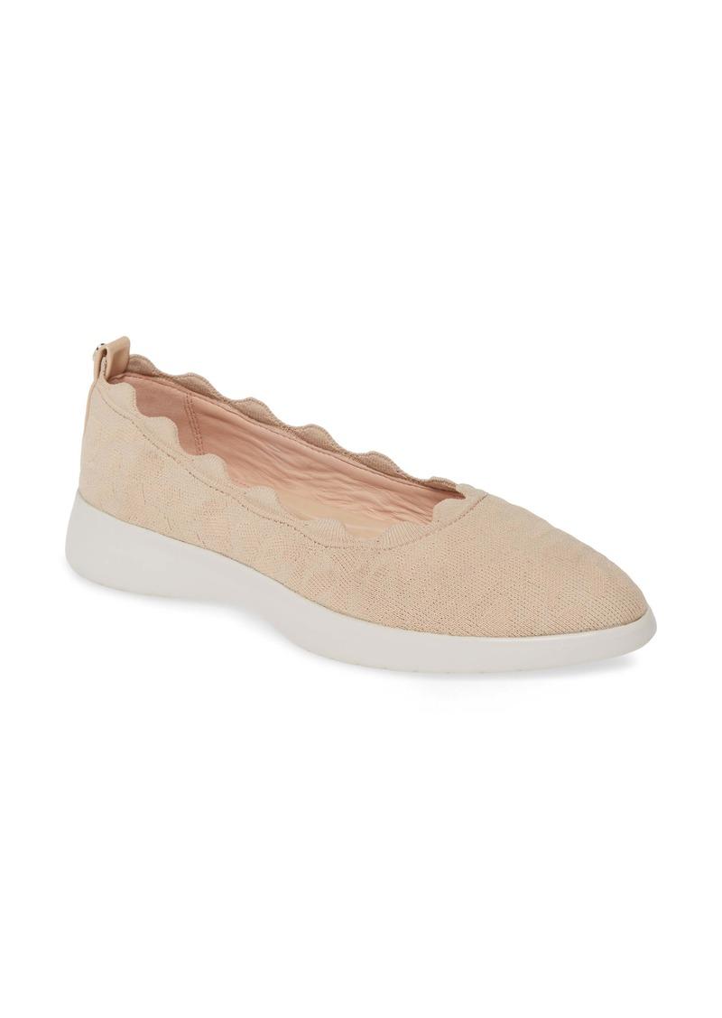 Taryn Rose Dasha Scallop Sock Flat (Women)