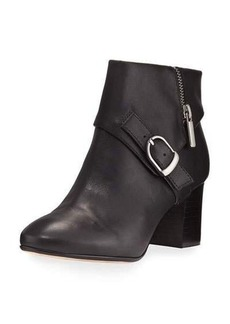 Taryn Rose Drive Leather Buckle Bootie