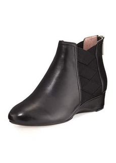 Taryn Rose Folks Leather Demi-Wedge Bootie