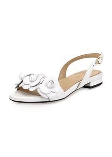 Taryn Rose Ida Flower Flat Slingback Sandal