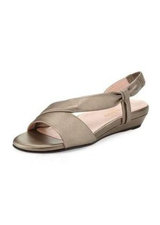 Taryn Rose Ion Leather Demi-Wedge Sandal
