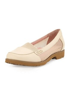 Taryn Rose Jac Mesh and Leather Loafer