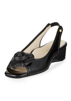 Taryn Rose Karlos Floral Demi-Wedge Sandal