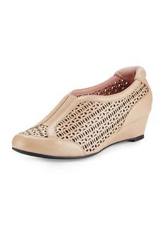 Taryn Rose Parus Laser-Cut Demi-Wedge Sneaker