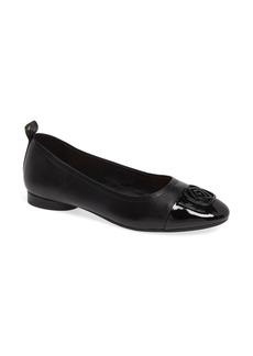Taryn Rose Penelope Cap Toe Ballet Flat (Women)