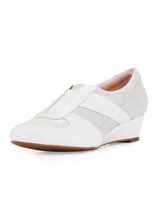 Taryn Rose Pooms Traveler Patent-Trim Wedge Sneaker