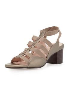 Taryn Rose Reesa Caged Chunky-Heel Sandal