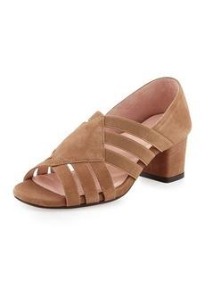 Taryn Rose Rilee Suede Chunky-Heel Sandal