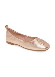 Taryn Rose Rosalie Water Resistant Rose Embossed Ballet Flat (Women)