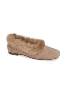 Taryn Rose Ryanne Water Resistant Faux Fur Flat (Women)