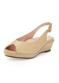 Taryn Rose Tellie Leather Slingback Sandal