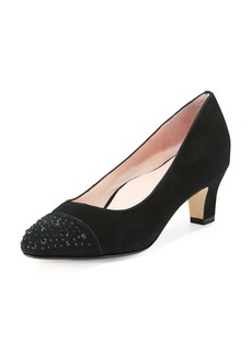Taryn Rose Trulie Crystal Suede Low-Heel Pump