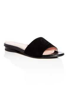 Taryn Rose Women's Dahna Suede Slide Sandals