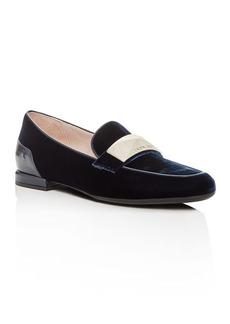 Taryn Rose Women's Elena Velvet Loafer Flats
