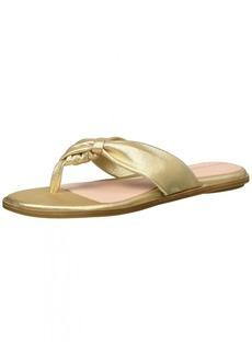 Taryn Rose Women's Karissa Powder Metallic Flat Sandal