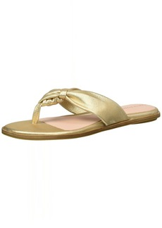 Taryn Rose Women's Karissa Powder Metallic Flat Sandal   M M US