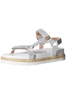 Taryn Rose Women's Lydia Metallic Nappa Flat Sandal  8.5 M M US