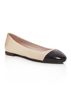 Taryn Rose Women's Rosa Leather Cap Toe Ballet Flats