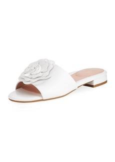 Taryn Rose Violet Floral Patent Slide Sandal