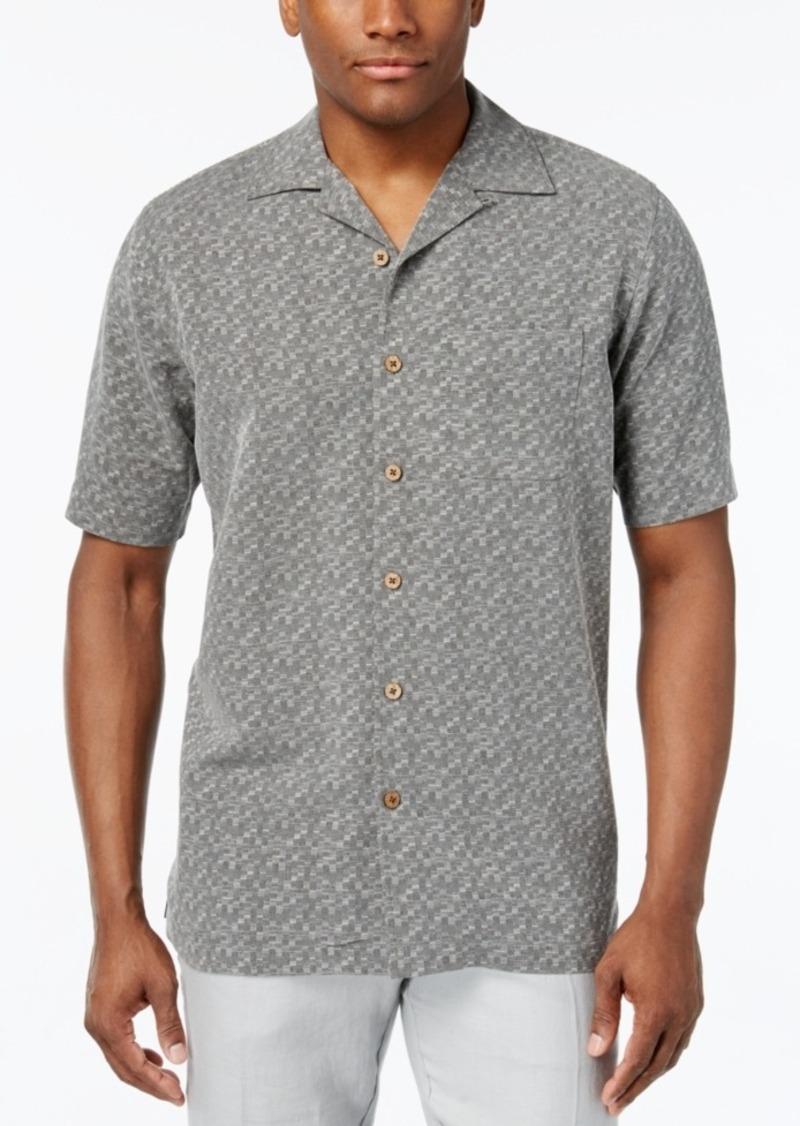 Tasso Elba 100% Silk Printed Short-Sleeve Shirt, Only at Macy's
