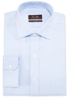 Tasso Elba Classic-Fit Non-Iron Blue Twill Houndstooth Dress Shirt, Created for Macy's