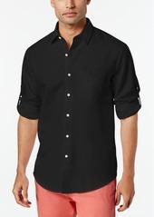 Tasso Elba Island Linen Roll Tab Shirt, Created for Macy's