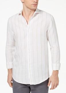 Tasso Elba Island Men's Boucle Stripe Shirt, Created for Macy's