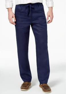 Tasso Elba Island Men's Classic-Fit Drawstring Linen Pants, Created for Macy's