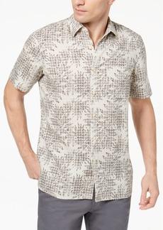 Tasso Elba Island Men's Leaf Medallion-Print Shirt, Created for Macy's