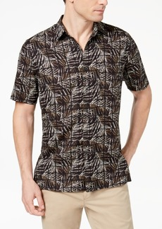 Tasso Elba Island Men's Leaf Tile-Print Shirt, Created for Macy's