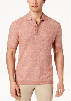 Tasso Elba Island Men's Lightweight Textured Polo, Created for Macy's