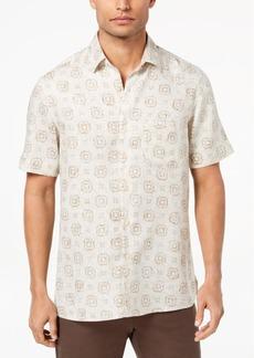 Tasso Elba Island Men's Medallion-Print Shirt, Created for Macy's