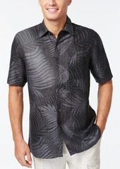 Tasso Elba Linen Leaf Jacquard Short-Sleeve Shirt, Created for Macy's