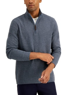 Tasso Elba Men's Birdseye Quarter-Zip Sweater, Created for Macy's