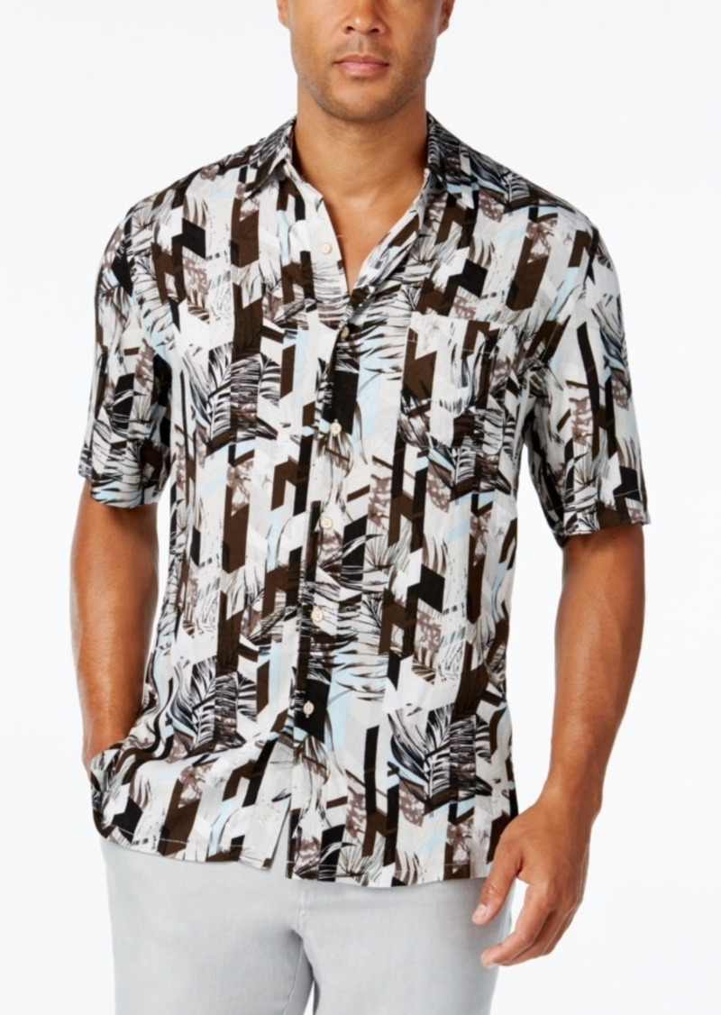 Tasso Elba Men's Print Short-Sleeve Shirt, Classic Fit