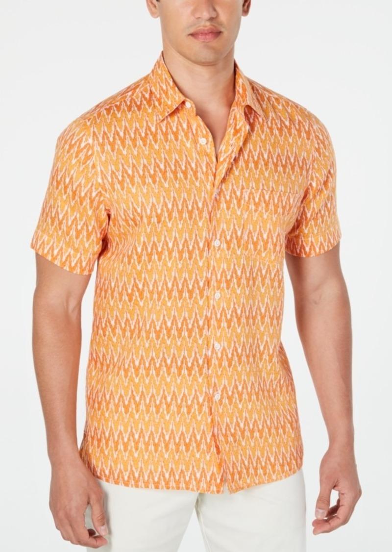 Tasso Elba Men's Adian Ikat Linen Shirt, Created for Macy's