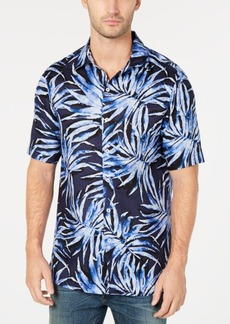 Tasso Elba Men's Agua Palma Printed Shirt, Created for Macy's