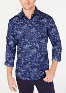 Tasso Elba Men's Stretch Asiago Paisley Print Shirt, Created for Macy's