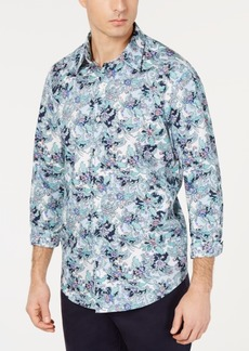 Tasso Elba Men's Floral Graphic Shirt, Created for Macy's