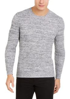 Tasso Elba Men's Basket Weave Crewneck Sweater, Created for Macy's
