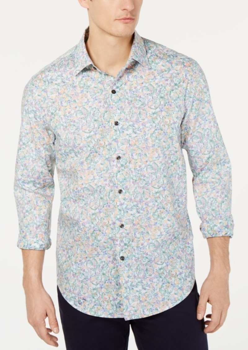 Tasso Elba Men's Beraco Floral Graphic Shirt, Created for Macy's