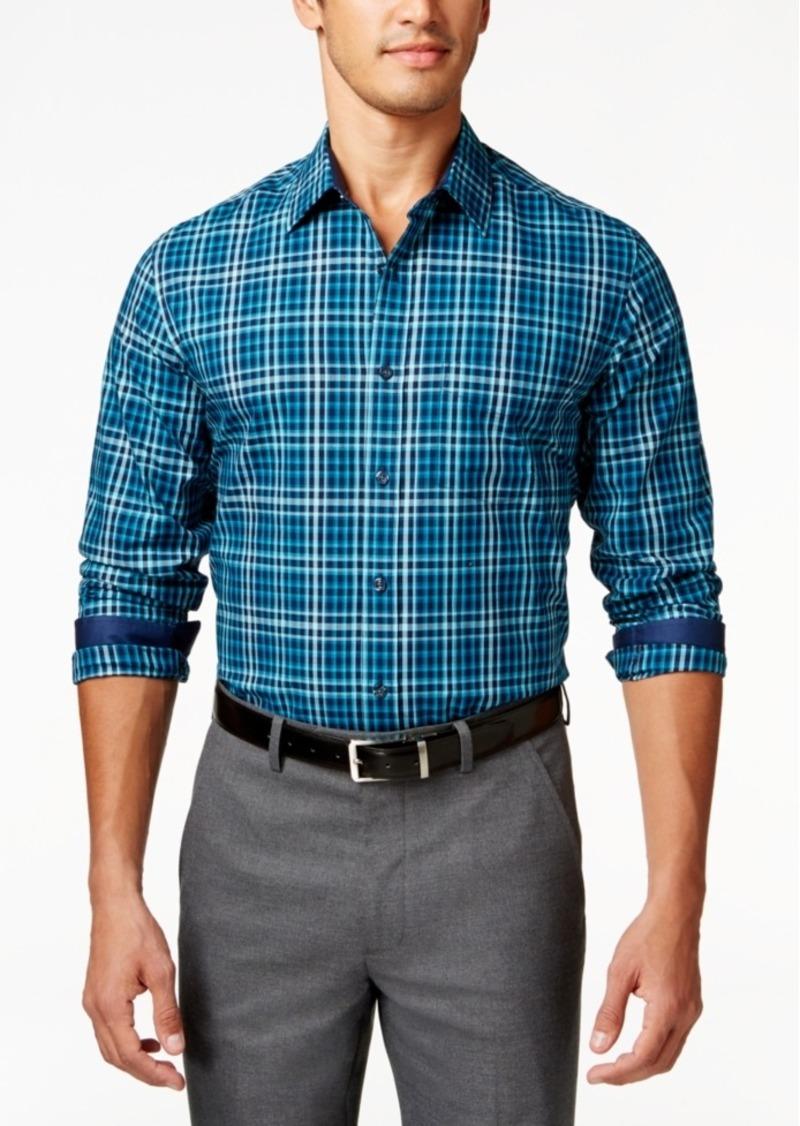 Tasso Elba Men's Big and Tall Long-Sleeve Plaid Shirt