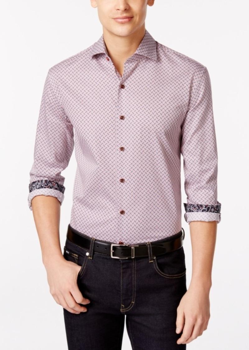 Tasso Elba Men's Big and Tall Print Long-Sleeve Shirt, Only at Macy's
