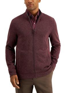 Tasso Elba Men's Birdseye Full-Zip Sweater, Created for Macy's