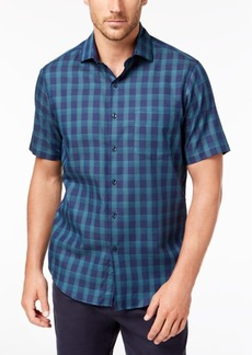 Tasso Elba Men's Bossini Plaid Shirt, Created for Macy's