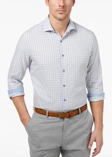 Tasso Elba Men's Boucle Plaid Shirt, Created for Macy's