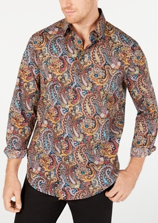 Tasso Elba Men's Stretch Cambridge Paisley Print Shirt, Created for Macy's