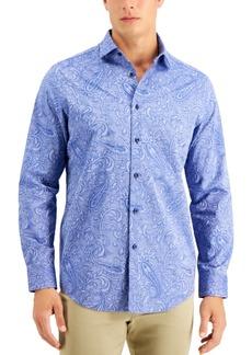 Tasso Elba Men's Casatto Jacquard Paisley Shirt, Created for Macy's
