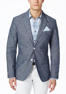 Tasso Elba Men's Classic-Fit Chambray Blazer, Created for Macy's